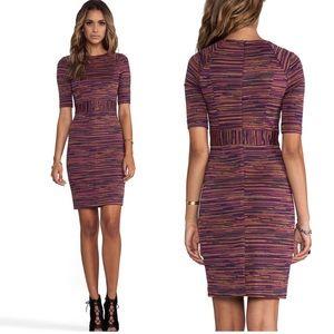 Trina Turk wineberry ponte jacquard monarch dress